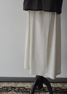 cotton double side gather skirt