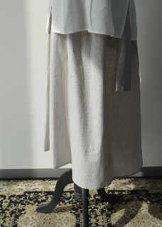 Light linen gathered skirt