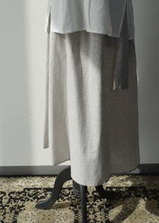 Light linen gathered skirt