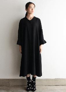 受注会  ベルギーリネン生地のワンピースドレス