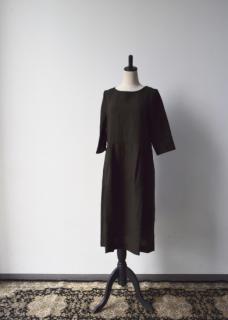 受注会 べルギーリネン【ポプリン】のワンピースドレス