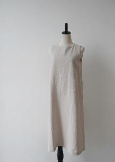 crepe linen sleeveless onepiece