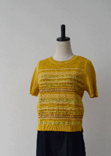 SUMMER  SOLID  TWEED  PULLOVER