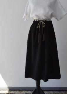 リネンW(ウエスト)ゴム 配色ギャザースカート