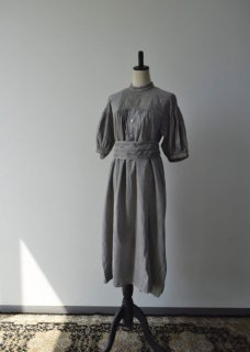 Khadi cotton mandarin collar dress