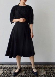 筆記帳植物刺繍生地のスカート・パンツ(丈長・丈短)