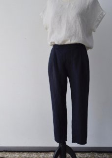 linen  tuck easy pants