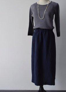 linen tuck skirt