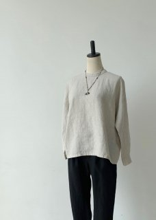 linen stand collar square shirt