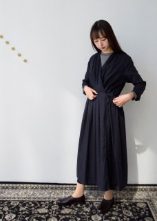 cotton silk tuck robe