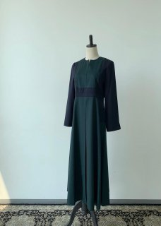green navy dress