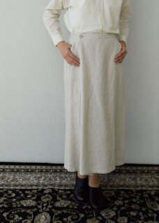 raising linen wrap skirt