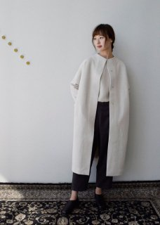 Press wool long coat