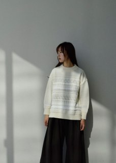 SOLID TWEEDY KNIT PULLOVER(WOOL)