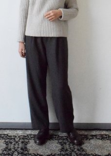 wool cashmere wide pants