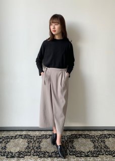 cotton double wrap pants