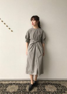 Beautiful organic cotton wrapped dress