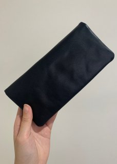 Naturally tanned leather wallet