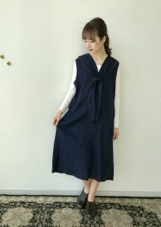scarf one-piece / daily linen
