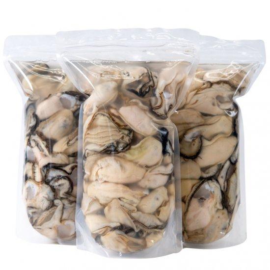 【水産物応援商品・送料無料】岩手県山田湾産 むき牡蠣 3kg(1kg×3パック)[加熱用]