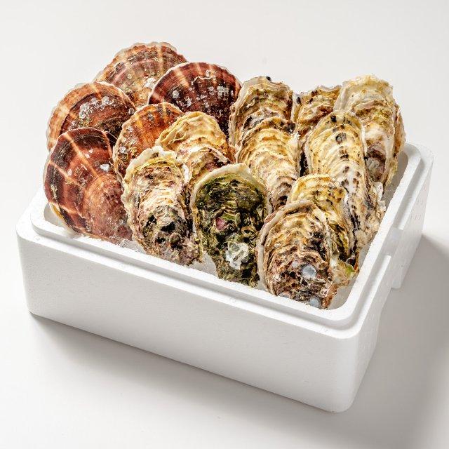 【送料無料】カキ・ホタテセット(カキ10コ・ホタテ5コ)
