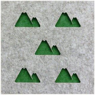 Felmenon 硬質吸音フェルトボード  山(4枚)