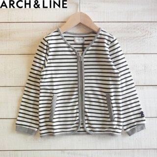 ARCH&LINE(アーチアンドライン) ボーダー ZIP CARDIGAN カーディガン WHITE×BLACK ARCH&LINEより入荷
