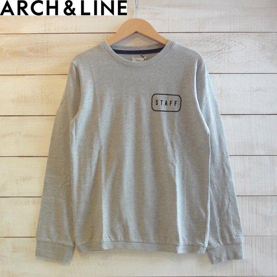 """ARCH&LINE(アーチアンドライン) レディース SLUB L/S TEE """"STAFF"""" Tシャツ グレー   ARCH&LINEより…"""