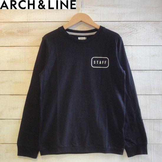"""ARCH&LINE(アーチアンドライン) レディース SLUB L/S TEE """"STAFF"""" Tシャツ ブラック   ARCH&LINEより…"""