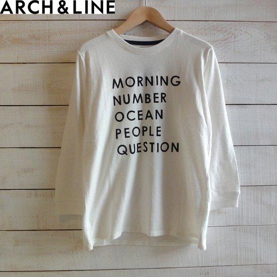 """ARCH&LINE(アーチアンドライン)レディース SLUB 7/S TEE """"MORNING"""" ホワイト ARCH&LINEより入荷"""