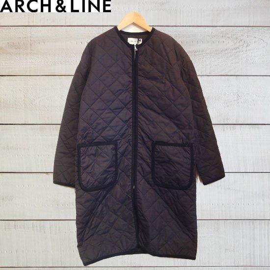 ARCH&LINE(アーチアンドライン) レディース/コート TAFFETA QUILT LONG COAT ブラック  ARCH&LINEより入荷