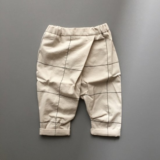 <img class='new_mark_img1' src='//img.shop-pro.jp/img/new/icons34.gif' style='border:none;display:inline;margin:0px;padding:0px;width:auto;' />【tree house】FRIDO fitted trousers+checkd stitching/almond+black