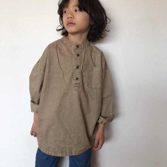 <img class='new_mark_img1' src='//img.shop-pro.jp/img/new/icons14.gif' style='border:none;display:inline;margin:0px;padding:0px;width:auto;' />no collar shirt/beige