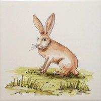ポルトガルタイル(アズレージョ)【アニマル・ANC6】ウサギ・カラー