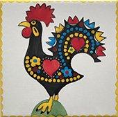 ポルトガルタイル(アズレージョ)【アニマル 幸運を呼ぶ雄鶏】GALO-Y