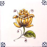 ポルトガルタイル(アズレージョ)【フロール・FLC4】花・カラー