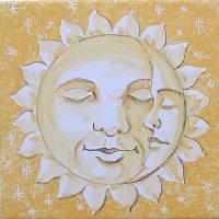 ポルトガルタイル(アズレージョ)【エストレーラ・ESY1】眠る満月・黄色