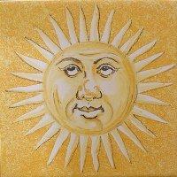 ポルトガルタイル(アズレージョ)【エストレーラ・ESY4】考える太陽・黄色