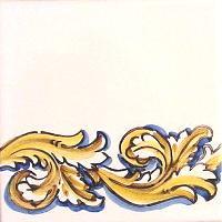ポルトガルタイル(アズレージョ)【フォーリャ・LE2】黄色