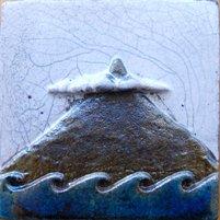 ポルトガルタイル(アズレージョ)楽スタイル【自然・TQ-N1】ピコ山(約110×110mm)