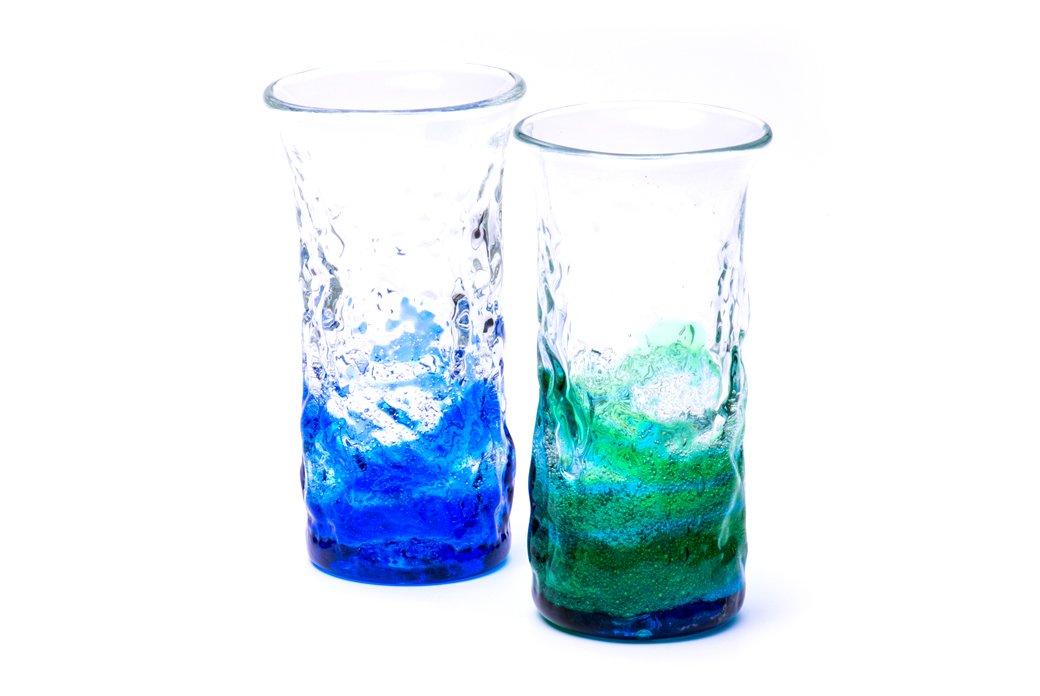 潮騒デコボコ一口ビア(青水×緑水)2個セット