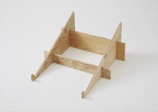 マルシェ用の傾斜台: 2箱用