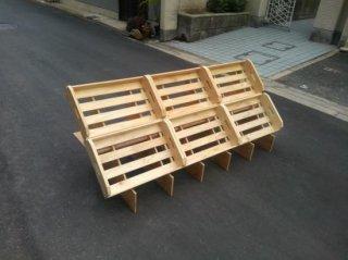 マルシェ用の傾斜台6箱用x1 + 木箱Sx6 セット *在庫あり(翌日発送)