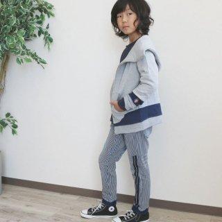 ニット風デニム切替ジョガーパンツ / C5243 / 80�-140�