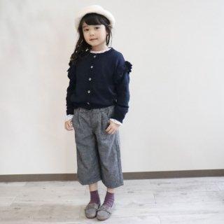 ウール混裏マシュマロワイドパンツ / C7193 / 100�-140�
