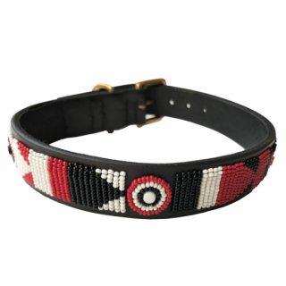 Kenyan Collection 16インチ 中型犬 大型犬 革首輪 【Maasai Shield】ケニアンコレクション