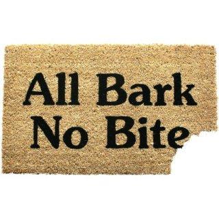 ドアマット All Bark No Bite ココナッツ繊維玄関マット