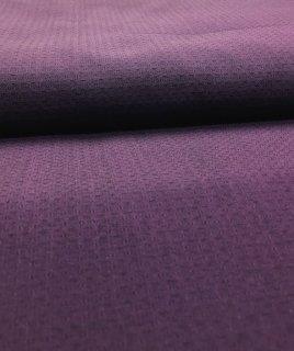 八女紬無地 紫