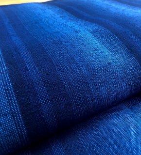 4立ぼかし縞ネップ紺