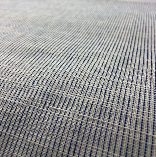 ちぢみ織りピンストライプ白ブルー